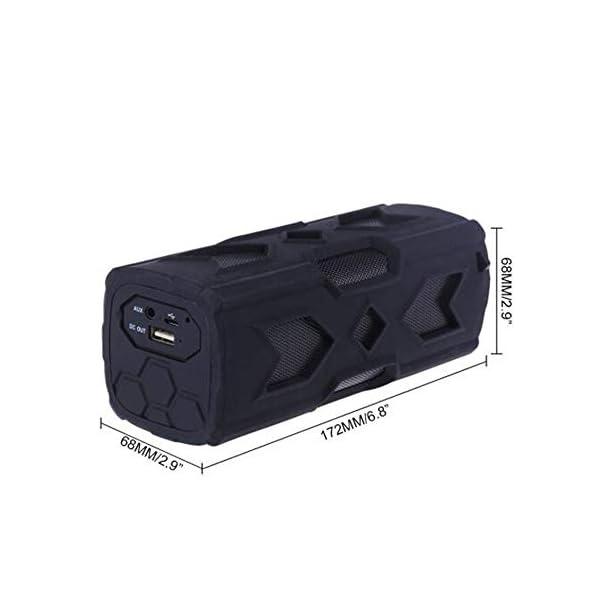 Haut-Parleur Portable Bluetooth étanche Voyage en Plein airHaut-Parleur Bluetooth Rouge 172mmx68mm 2