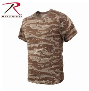 (Rothco T-Shirt, Desert Tiger Stripe Camo, Large )