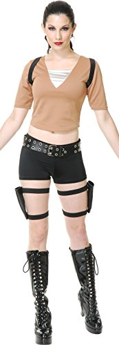 Costumes Gun Holster Lara Croft (Tomb Fighter Adult Costume - Small)