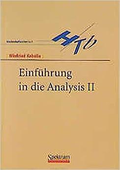 Book Einführung in die Analysis II (German Edition): 2