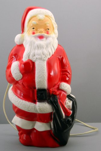 Light Up Santa Claus Empire 1968 Blow Mold Vintage Christmas -