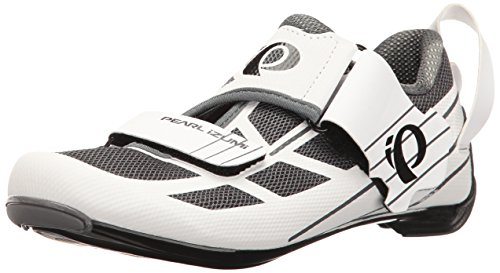 Pearl iZUMi Women's W Tri Fly Select V6 Cycling Shoe, White/Shadow Grey, 40 EU/8.4 B US