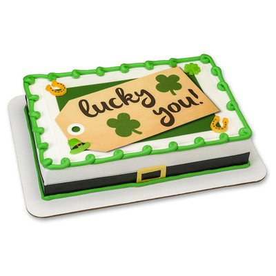 St. Patricks Day Edible Icing Image for 6 inch Round Cake