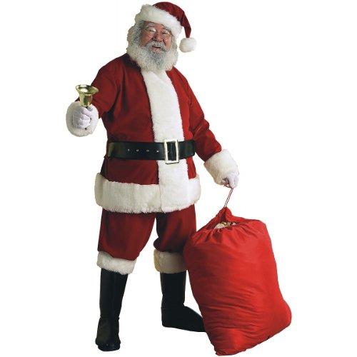 Rubies Velvet Glove (Deluxe Velvet Santa Suit Adult Costume - Large)