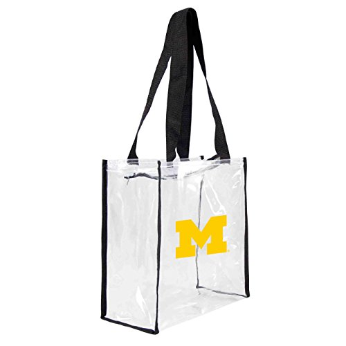 NCAA Michigan Wolverines Clear Square Stadium Tote ()