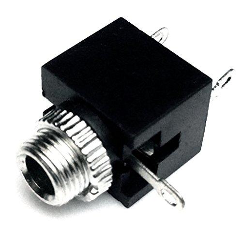 CESS 3.5mm Mono TS Jack Socket Adapter Cables Connectors (10 Pack)