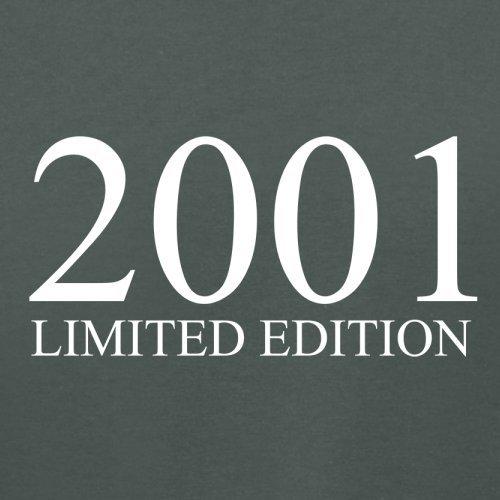 2001 Limierte Auflage / Limited Edition - 16. Geburtstag - Damen T-Shirt - Dunkelgrau - M