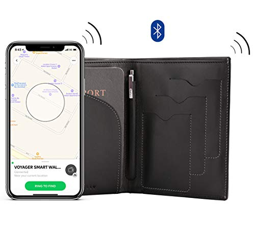 with Anti Voyager Slim Smart Travel Wallet Selfie Theft Button Black 5g5qpYHw