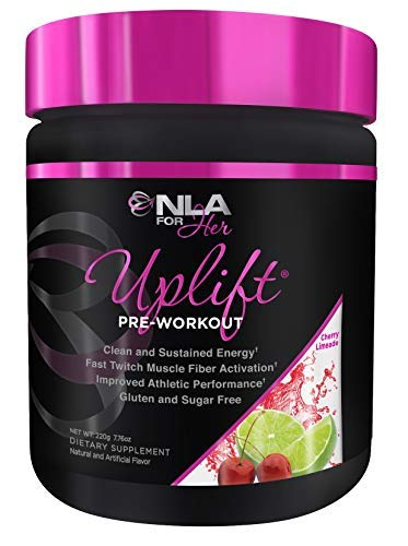 NLA for Her - Uplift - Pre-Workout Energy - Provides Clean/Sustained Energy, Supports Athletic Performance, Helps Fast Twitch Muscle Fiber Activation - Cherry Limeade - 220 Grams (Jamie Eason Lean Body For Her Protein Reviews)