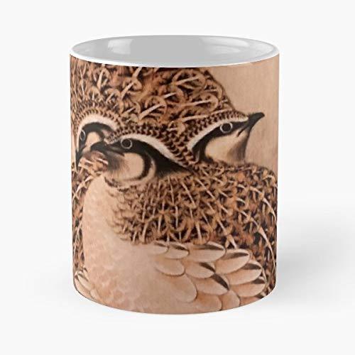 Quail Pheasant Grouse Gamebird - Ceramic Novelty Mugs 11 Oz, Funny Gift