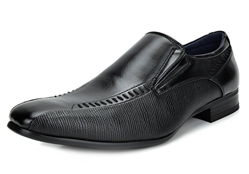 Bruno Marc Men's Gordon-02 Black Leather Lined Dress Loafers Slip On Shoes – 11 M US
