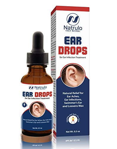 Natrulo Natural Ear Drops for Ear Infection Treatment – Homeopathic, Herbal Eardrops for Adults, Children & Pets…