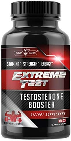 Test Boost Advanced Dietary Supplement – Male Enhancement Formula – Powerful Stamina, Strength, Energy Endurance Supplement – Supports Healthy Test Training Natural T Levels – 60 Capsules