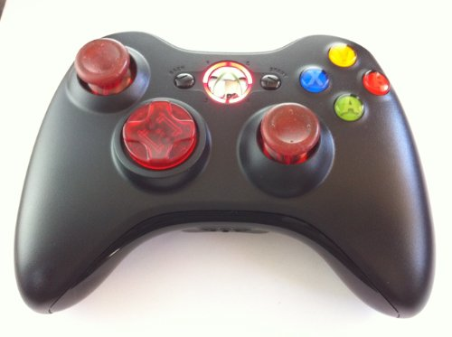 Drop Shot, Auto-aim, Xbox 360 Modded Controller for COD Ghost Black Ops 2, Mw3, Mw2, Rapid Fire Mod(clear Red) (Call Of Duty Black Ops 2 Sniper Rifles)