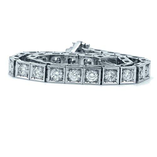 OFFRE spéciale... 4.00CT Boîte de diamant rond Bracelet, lourd Or blanc