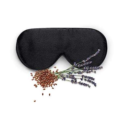 (Mulberry Silk Sleep Mask - Anti-Aging Eye Mask With Lavender Pouch For Aromatherapy And Relaxation, Black Onyx)