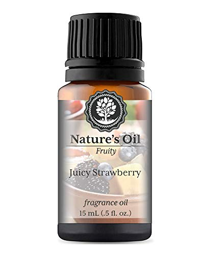 Juicy Strawberry Fragrance Oil (15ml) For Diffusers, Soap Making, Candles, Lotion, Home Scents, Linen Spray, Bath Bombs, Slime ()