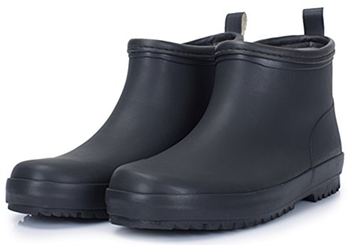Image of SATUKI Adult Men's Antiskid Short Ankle High Rubber Water Resistant Shoes Rain Boots