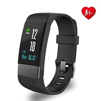 YoYoFit Rock Heart Rate Monitor, Waterproof Fitness Tracker with Blood Pressure Sensor, Wearable Bluetooth Fitness Watch
