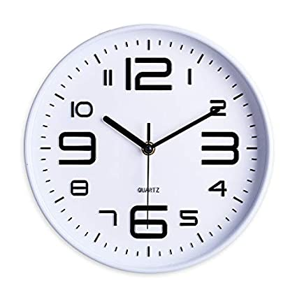 Amazoncom House Round Shape Wall Clock Creative Decorative
