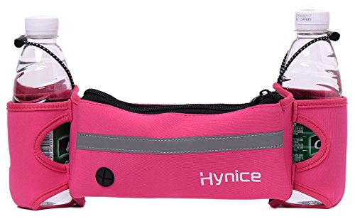 Hydration Running Belt,HyniceFitness Runners waist pack with water bottle holder ,Cellphone Zipper Pockets for iPhone 6 6plus S7 (Phone Water)