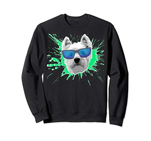 (Westie Splash Design Sweatshirt)