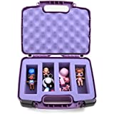 CASEMATIX Purple TOY BOX Storage Case Fits LOL Surprise Dolls - Ideal Carrying Box for Playset Figures and Organizer For Accessories - INCLUDES CASE ONLY