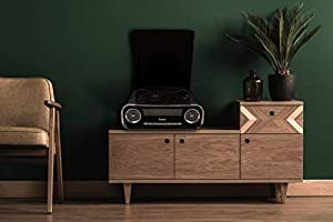 Lauson 01TT16 Tocadiscos Diseño Vintage Coche de Colección con 2 Altavoces Estéreo Integrado de 3 W | Tocadisco Vinilo con Radio FM, Función ...
