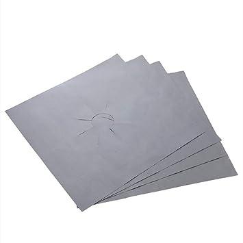 Lámina protectora de la placa de cocción de gas reutilizable Hoja antiadherente Placa de cocción de