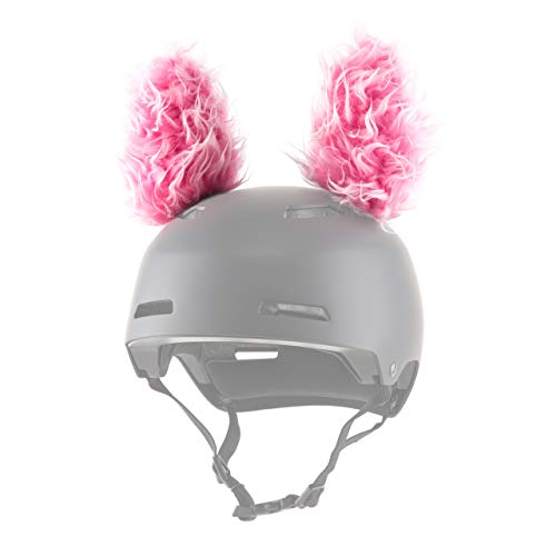 - ParaWild Lynx Helmet Accessories w/Sticky Hook & Loop Fastener Adhesive (Helmet not Included), Fun Helmet Bunny/Rabbit Ears/Covers for Snowboarding, Skiing, Biking for Kids, Toddlers and Adults