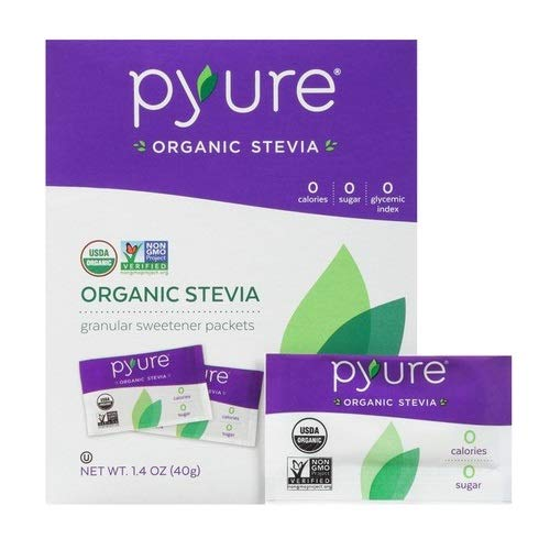 Organic Stevia Sweetener Packets, Sugar Substitute, 40 Count by Pyure (Image #3)