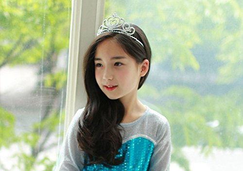 Lovelyshop Rhinestone Crystal Tiara-Wedding Bridal Prom Birthday Pegeant Prinecess Crown (Heart) by Lovely Shop (Image #6)