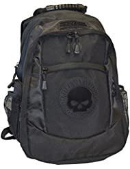 Harley-Davidson Mens Willie G. Skull Classic Backpack - Black BP1962S-Black