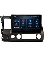 XTRONS Android 10.0 Car Stereo Radio Player 10.1 Inch IPS Touch Screen GPS Navigation Built-in DSP Bluetooth Head Unit Supports Android Auto Full RCA Backup Camera WiFi OBD2 DVR TPMS for Honda Civic