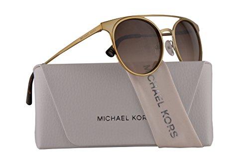 Michael Kors MK1030 Grayton Sunglasses Shiny Pale Gold w/Dark Brown Gradient Lens 52mm 116813 MK ()