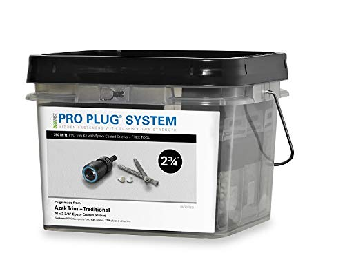 (Pro Plug PVC Plugging System for AZEK Traditional Trim - Epoxy Steel - 1125 pcs for 750 Lineal Ft)