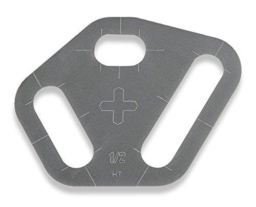 Plasma Stencil - Tri Slot Cutter Guide - 3 pc. Kit - - Guide Slot