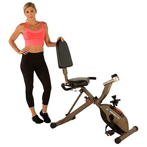Exerpeutic GOLD 525XLR Folding Recumbent Exercise Bike, 400 - Exercise Duty Heavy Bikes