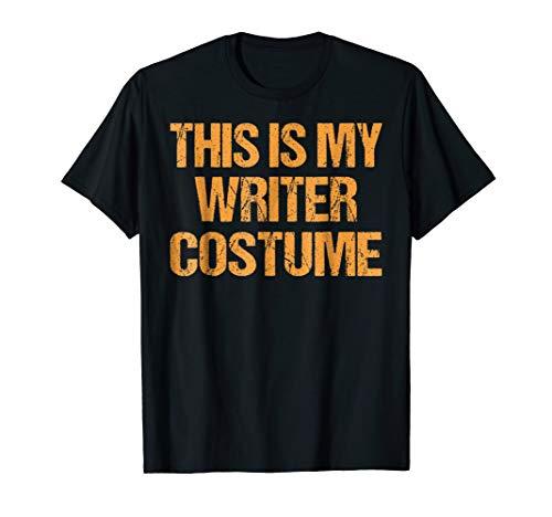 Writer Halloween Shirt Easy Lazy Last Minute