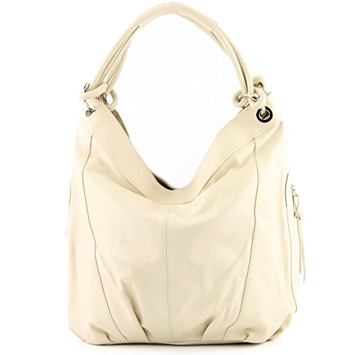 Z18 ModaModa Shoulder Italian Leather Women's Choice Colour Large 42x16x30 Bag Nappa cm Ivory qPHOTqw