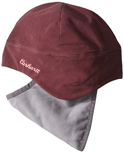 - Carhartt Women's Gretna Fleece 2 in 1 Hat and Face Mask, Deep Wine, One Size