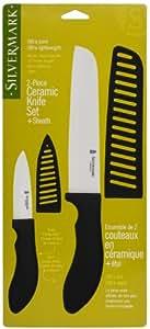 Amazon Com Silvermark 2 Piece Ceramic Knife Set White