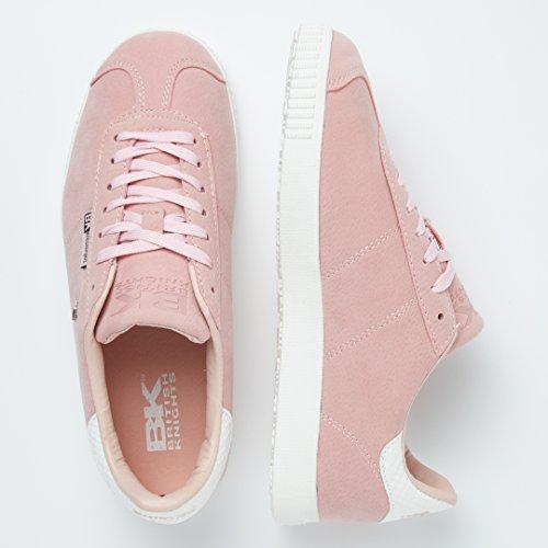 Point Bassa Knights Chiaro bianco Rosa Sneakers Donne British 5q74g