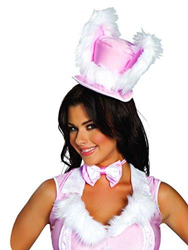 [Sexy Women's White Rabbit Hat Costume Accessory] (White Rabbit Dance Costumes)