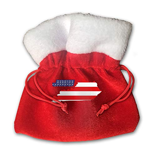 CYINO Personalized Santa Sack,JMU Portable Christmas Drawstring Gift Bag (Red)]()