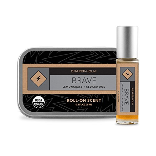 Price comparison product image DRAPER / HOLM - Brave Organic Lemongrass and Cedarwood Perfume (.3 FL OZ Roll-on Bottle)