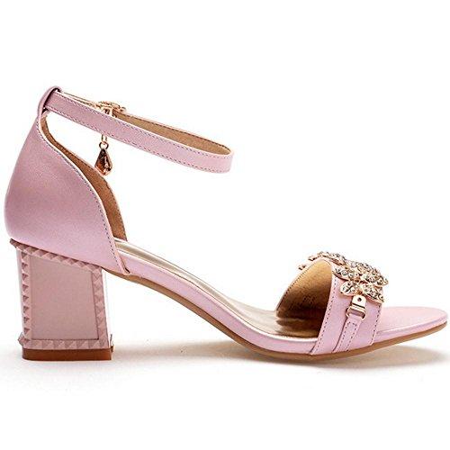 Chaussures Taoffen Talons Ouvert Ete Pink Femmes Bout Bloc ww8fE7