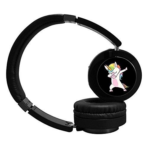 PeKnt Unicorn Wireless Bluetooth Headphones Stereo Over Ear Folding Earphone Black