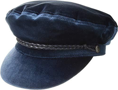 Brixton Women's Ashland Newsboy Velour Hat, Deep Navy, Medium