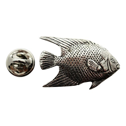 - Angelfish Pin ~ Antiqued Pewter ~ Lapel Pin ~ Sarah's Treats & Treasures